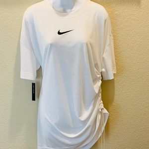 Nike Short Sleeve T-Shirt Dress-SZ.M/White-L
